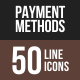 Payment Methods Line Multicolor Icons