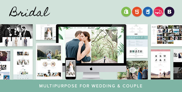 Bridal - Sectioned Responsive Shopify Theme | Multipurpose for Wedding & Couple