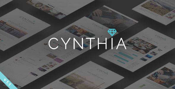 Cynthia – A Responsive WordPress Blog Theme with Hero Intro