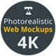 Photo-realistic Responsive Web Mockups 4K