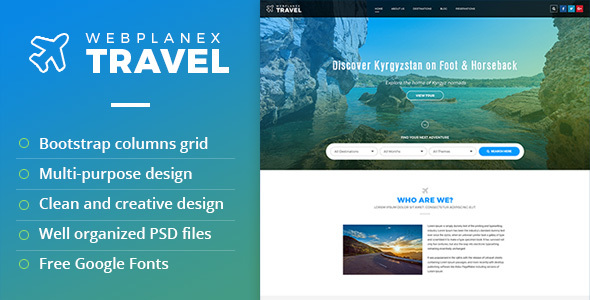 Tour & Travel PSD Template by WebPlanex
