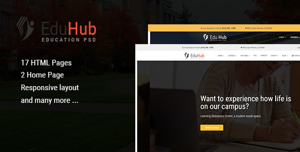 Download Edu Hub - College & Education HTML Template