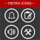 234 Unique Metro Style Icons - GraphicRiver Item for Sale