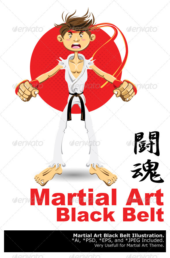 Martial Arts Black Belt - Sports/Activity Conceptual