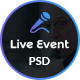 Live Event - Conference, Event & Meetup PSD Template