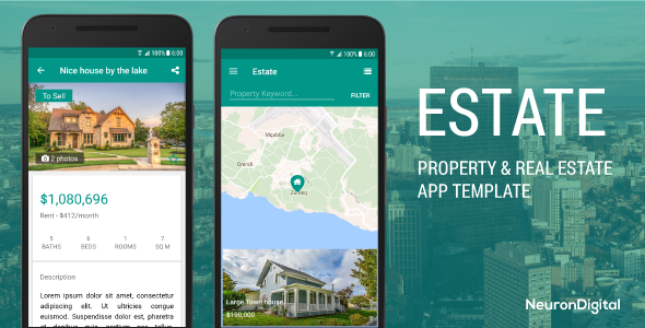Estate - A Property Real Estate App Template - CodeCanyon Item for Sale