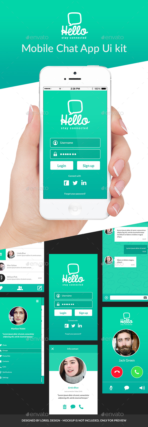 Hello - Mobile Chat App Ui kit (User Interfaces)