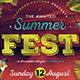 Summer Festival Flyer Template-Graphicriver中文最全的素材分享平台