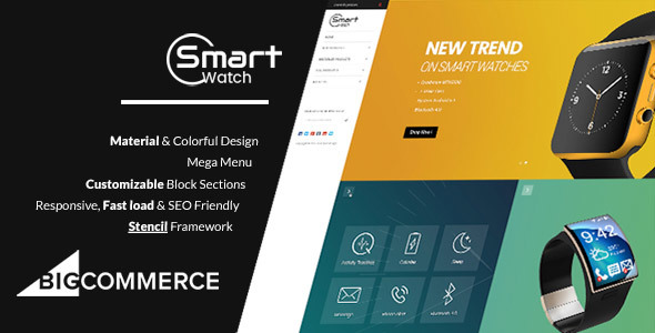 Image of Materient Smart Watches - Material Design Stencil BigCommerce Theme