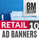 Retail 10 Banner Ads