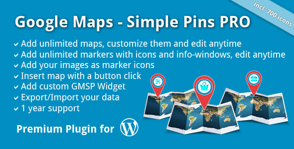 Google Maps - Simple Pins PRO - CodeCanyon Item for Sale