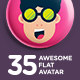 35 Awesome Flat Avatar