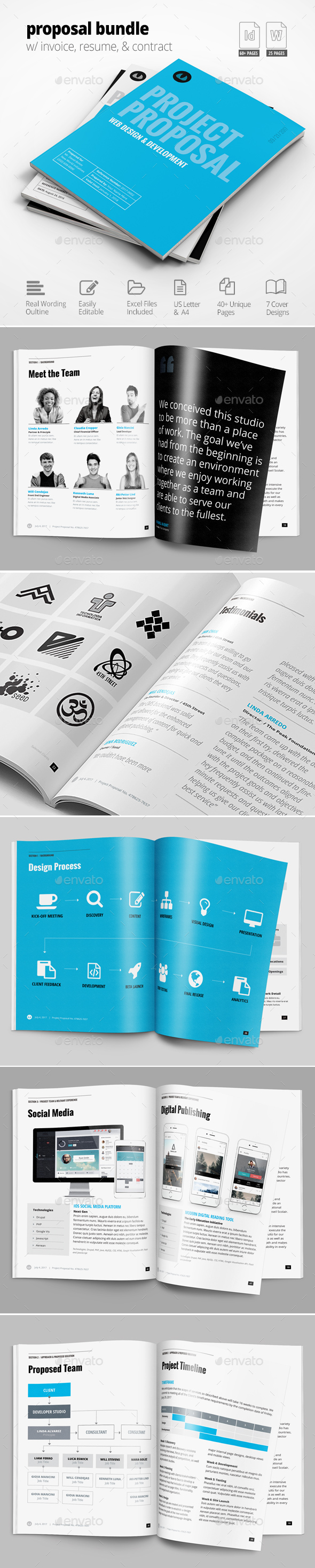 Business Proposal Template w/ Resume & Invoice 60+ Pages