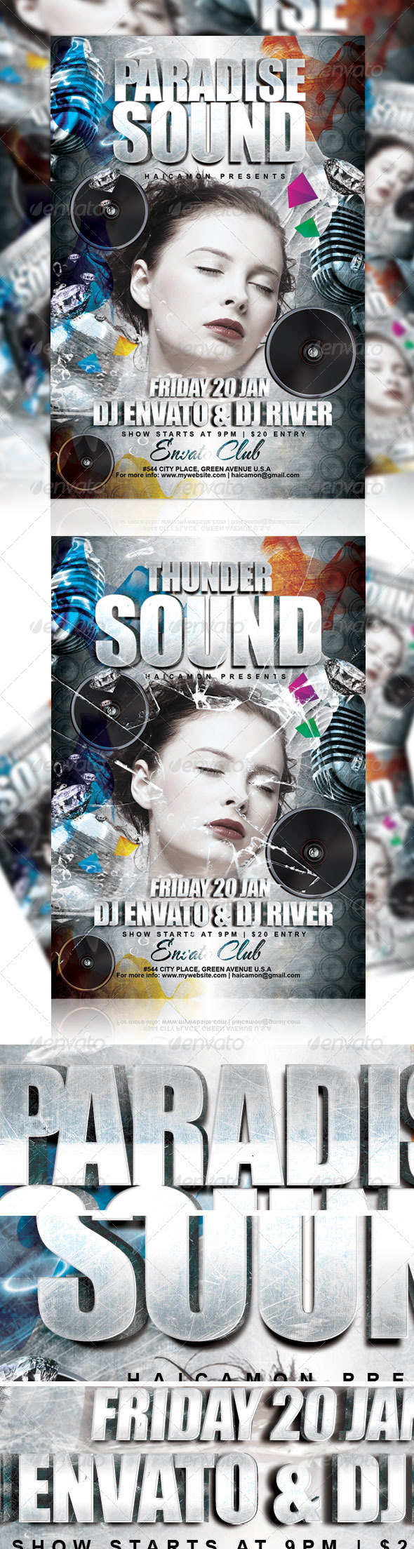 GraphicRiver Thunder Sound Party Flyer 1197232