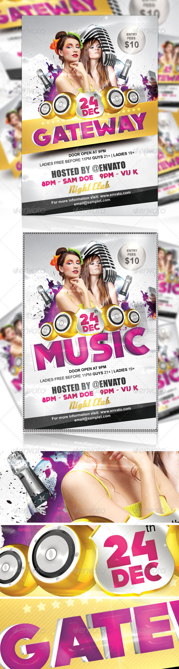 GraphicRiver Gateway Party Flyer 865929