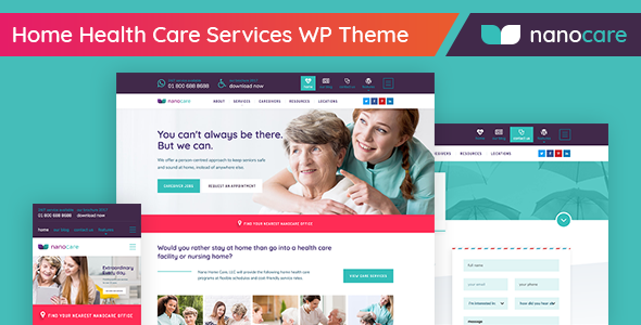 Home Health Care, Medical Care WordPress Theme – NanoCare (Health & Beauty) images