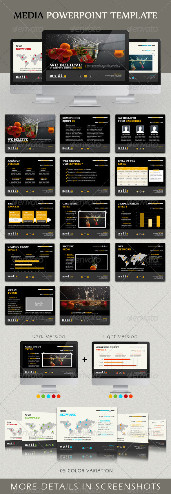 Media Powerpoint Template - Powerpoint Templates Presentation Templates