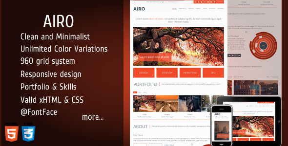 AIRO - Clean and Minimalist One Page Theme