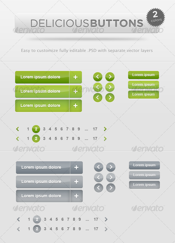 GraphicRiver Delicious Buttons 74626