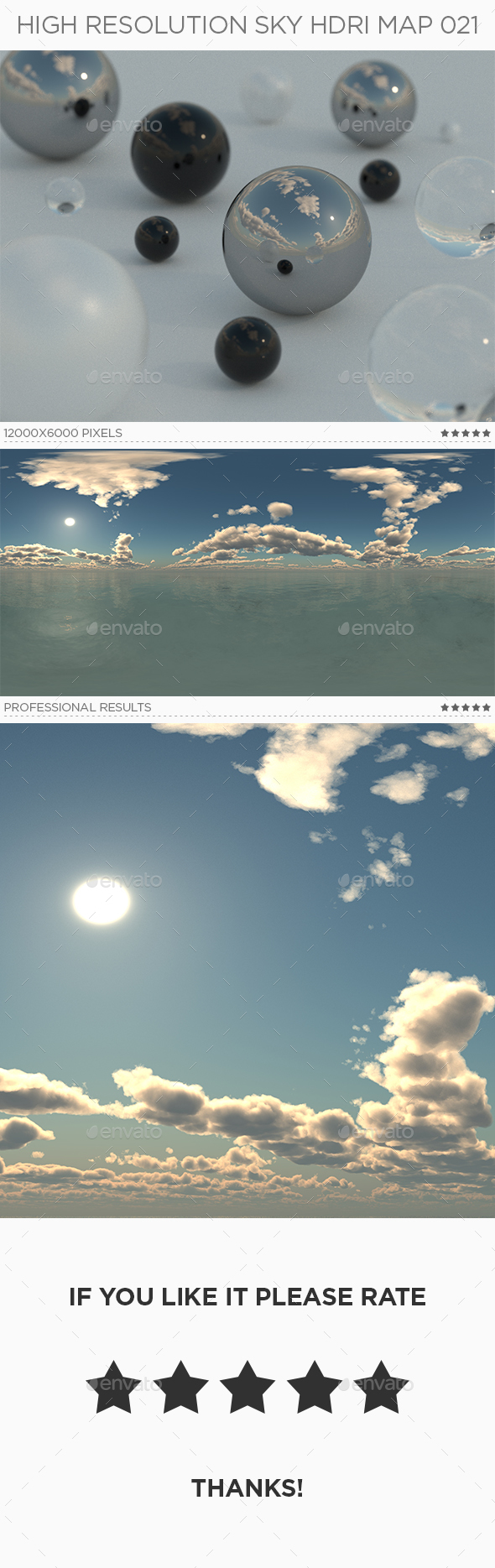 High Resolution Sky HDRi Map 021 - 3DOcean Item for Sale