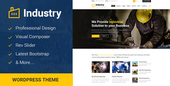 Industry - Factory & Industrial Business WordPress Theme