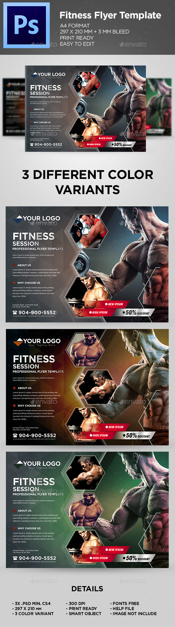 Fitness Flyer / Gym Business Flyer Template