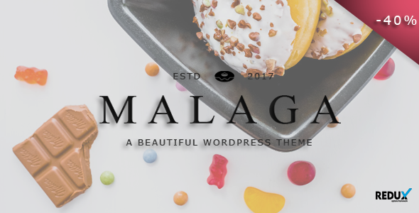 Malaga – A WordPress Theme for Food Bloggers (Personal) images