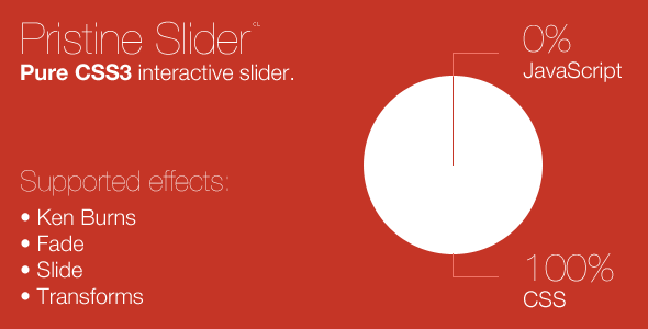 CodeCanyon Pristine Slider pure CSS3 interactive slider 1903042