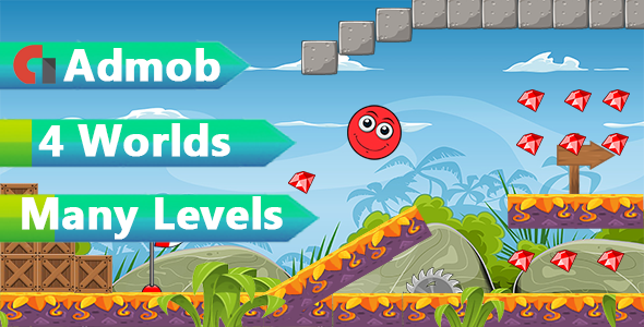 Super Red Ball world Admob - CodeCanyon Item for Sale