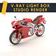 Vray light box studio render scene