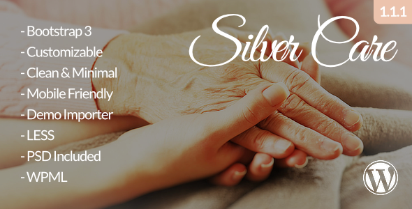 Silver Care - Senior Care / Retirement Home WordPress Theme