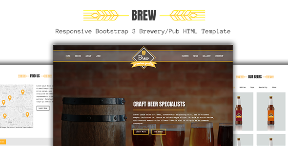 Brew - Craft Beer Brewery / Pub HTML5 Template