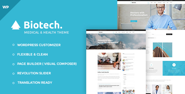 Biotech – Flexible Medical and Health WordPress Theme (Health & Beauty) images