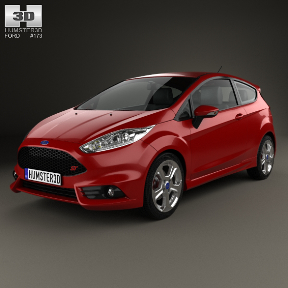 Ford Fiesta ST 3-door 2014 - 3DOcean Item for Sale