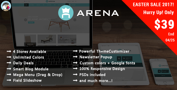 Arena - Responsive Prestashop Theme