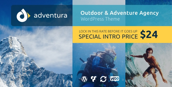 Adventura - Outdoor & Adventure Agency WordPress Theme (Travel) Adventura - Outdoor & Adventure Agency WordPress Theme (Travel) preview adventura promo