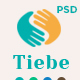 Tiebe Charity Non-profit  PSD Template.