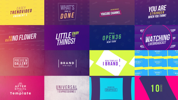 50 Creative Titles (Corporate) After Effects Templates | F5