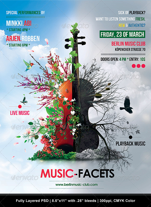 Music Facets Poster/Flyer - Flyers Print Templates