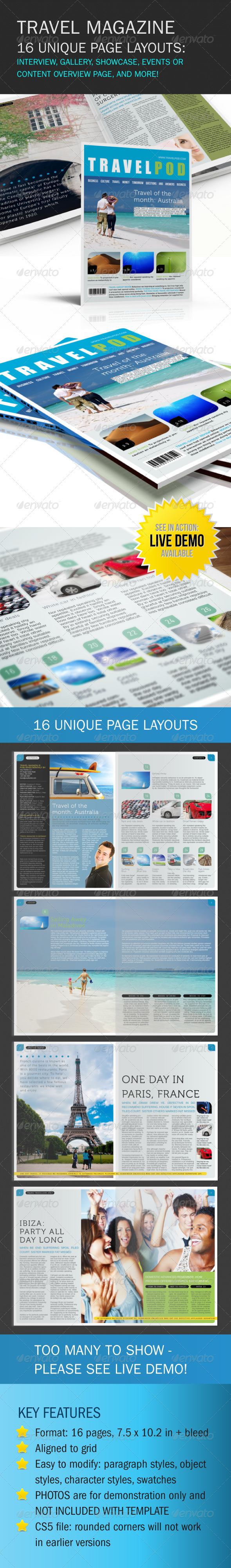 InDesign Travel Magazine - Magazines Print Templates