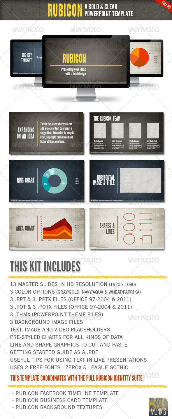 Rubicon Powerpoint Presentation Template - Powerpoint Templates Presentation Templates