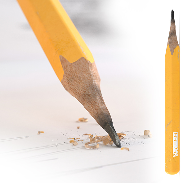 HD Old Pencil - 3DOcean Item for Sale