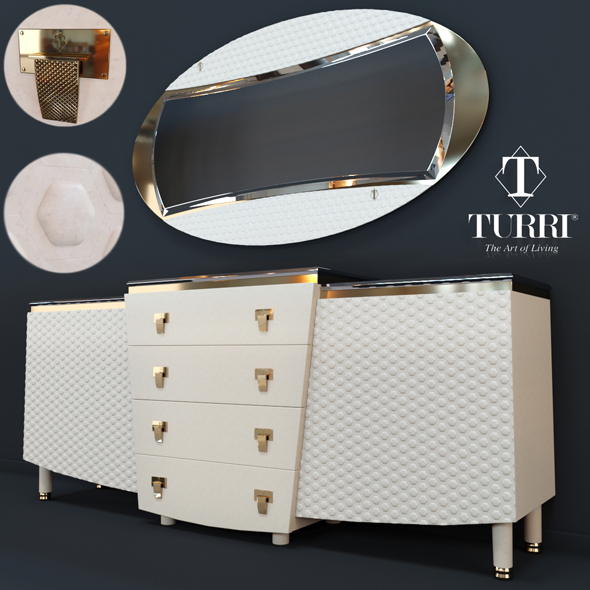 Nightstand Vogue Turri Z500L - 3DOcean Item for Sale