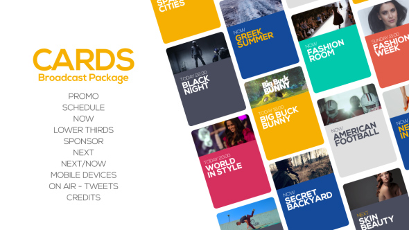 VideoHive Cards Broadcast Package 19719328