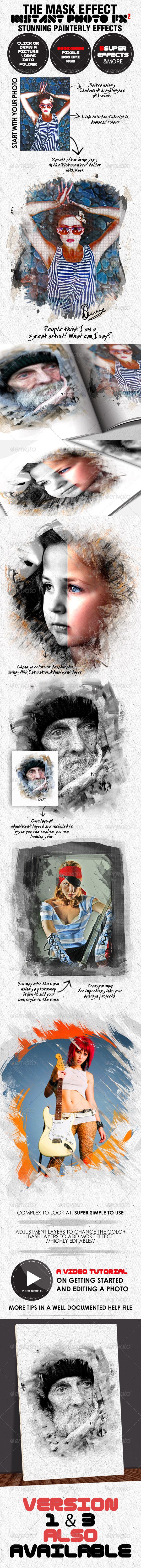 Photo-Fx-Auto Mask#2 - Stunning Photo Effects - Photo Templates Graphics