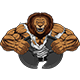 Angry Strong Lion