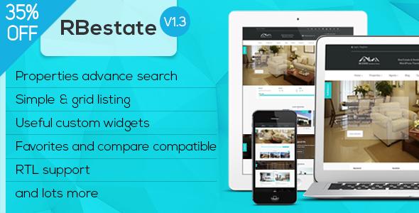 Фото Премиум шаблон Wordpress  RBestate - Real Estate with MLS IDX Listing WordPress Theme + RTL — preview.  large preview