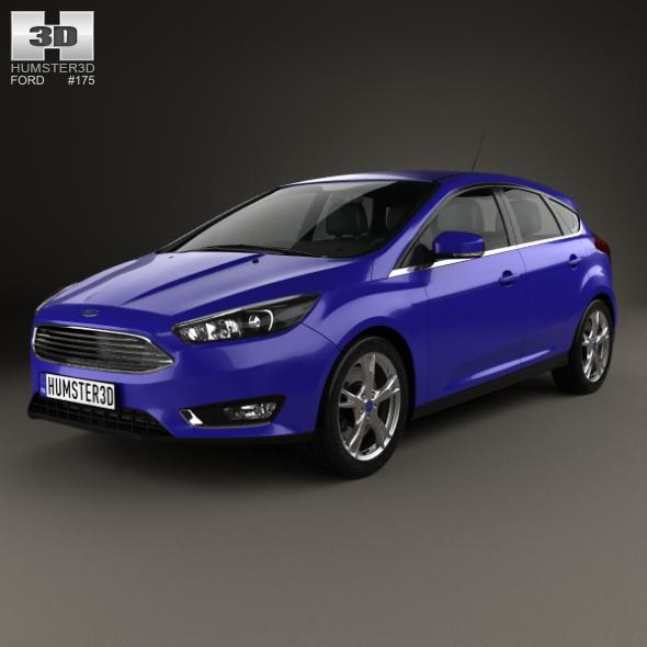 Ford Focus hatchback 2014 - 3DOcean Item for Sale