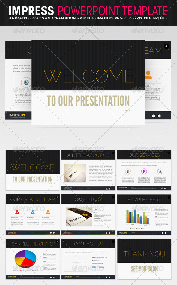 Impress PowerPoint Presentation - Powerpoint Templates Presentation Templates