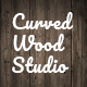 Old Grungy Curved Wooden Studio Background